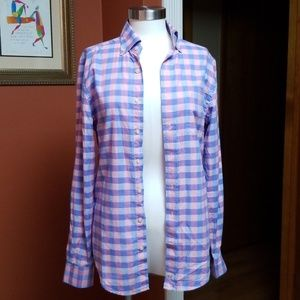 Vineyard Vines pale colored checkered shirt